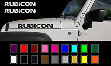 """2- 23"""" RUBICON Jeep Hood Decal Set Distressed Cracked Stickers Fender"""