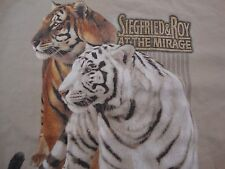Vintage Siegfried & Roy At The Mirage Tiger Las Vegas Vacation Casino T-Shirt XL