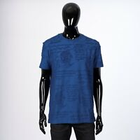 BERLUTI 560$ Terry Cloth Cotton T-Shirt With All Over Signature Scritto