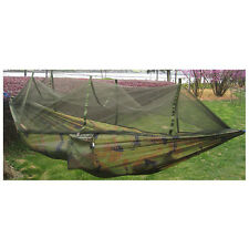 Double Person Travel Outdoor Camping Tent Hanging Hammock Bed Mosquito Net I8y8 Camouflage