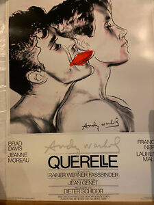 1982 Querelle Movie Poster with White Background Designed By Andy Warhol