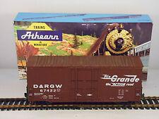 Vintage Athearn Rio Grande 40' Plug Door Hi-Cube  Box Car # D&RGW 67422