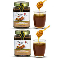 2 Jars of Mujeza Raw Honey with Cinnamon & Turmeric 300g / 10.6oz. USA Seller