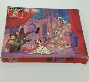 Vintage Disney 101 Dalmatians Floor Puzzle Golden Kids 63 Piece Jigsaw Large Dog