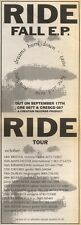 15/9/90 Pgn21 Advert: Ride The Fall E.p With dreams Burn Down & Tour 15x5