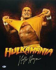 Hulk Hogan Signed HulkaMania 16x20 Photo *WCW *NwO Wrestling Beckett I57118