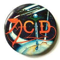 ACID - Old OG Vtg 1970s Very Large Button Pin Badge Frying Pan 63mm Punk NOT lsd