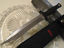 Mtech Grey Titanium Dual Edge Belt/Boot Knife Dagger 5mm Full Tang 20-77 11 1/4""