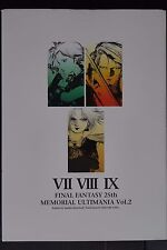 JAPAN Final Fantasy 25th Memorial Ultimania Vol.2 (Art Book)