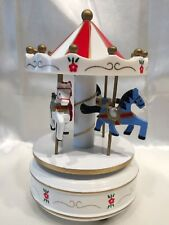 Wooden Horse Rotating Carousel Music Box