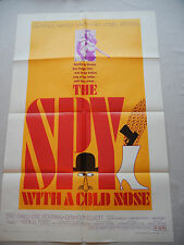 THE SPY WITH A COLD NOSE 1966 One Sheet Movie Spy POSTER Daliah Lavi Lionel