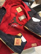 Nike Air Jordan 4 Levi Black Denim 12.5 Reversible Jacket Promo PE Sample IV