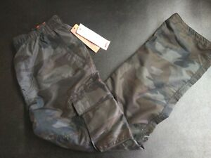 """NWT MENS WEAR FIRST CARGO PANTS XL/14-16 100% Poly Lined MICROBOARD INSEAM 28"""""""