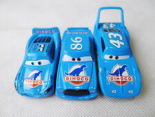 Mattel Disney Pixar Cars Dinoco McQueen/King/Chick Hicks 3pcs Metal Car Loose