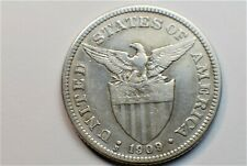 PHILIPPINES FIFTY CENTAVOS 1909s; SILVER