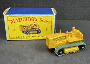 ORIGINAL LESNEY MATCHBOX SERIES NO. 8C CATERPILLAR CRAWLER! D1 BOX. 1962