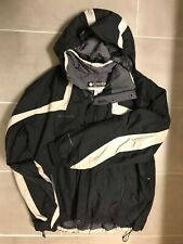 Columbia xl men's winter jacket black w' white trim hooded