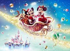 DISNEY (mickey mouse) SLED CHRISTMAS POSTER 24 X 36 INCH disneyland disneyworld