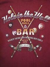 Hole in the Wall Pool Hall & Bar Oakland California Sharks Hot Girls T Shirt XS