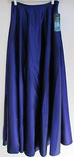 "$169.00 NWT Ralph Lauren Long Full Formal Skirt  Royal Purple ""Chamonix"" Sz 4"