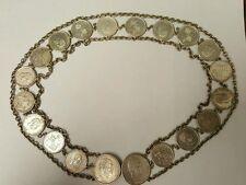 1883 Kalakaua I King of Hawaii 25 cent 50 cent Hatband/Belt RARE