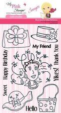 MPS - My Pink Stamper Stamp Set - GIRLIE DOODLES- Retired Images