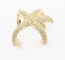Vintage Oro Estrella de mar abierto Anillo Ajustable Joyas declaración Charm Silver Regalo
