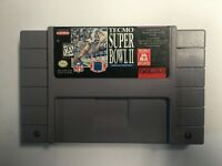 Super Tecmo Bowl II ~ Nintendo SNES, Cart Only ~ Authentic ~ Cleaned & Tested