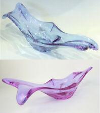 Große Mid Century Alexandrit Glas Schale Blau/Violett Glass bowl 50er 60er Jahre
