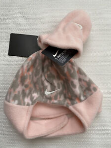NIKE Infant Baby Girl Fleece Hat Mittens Set Pink Camo NEW 2 Piece