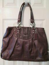 COACH Ashley Purple Plum Leather Satchel Handbag G1269-F19425  Pre-Owned