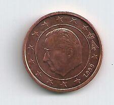 pièce de monnaie 1 ct d'euro 0.01 € Belgique 1999 TTB CUIVRE