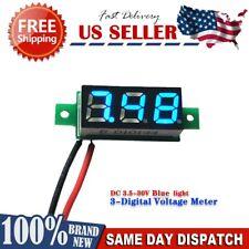 Digital Blue LED Car Voltmeter Voltage Panel Guage Meter DC 3.5-30V Mini USA