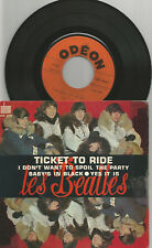 THE BEATLES - EP - FRANCE - ORANGE ODEON LABEL SOE 3766 -TICKET TO RIDE