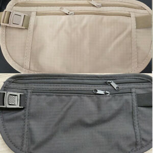 Slim Passport Travel Waist Money Belt Bag Pack Pouch Festival Unisex Wallet