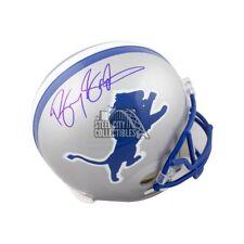 Barry Sanders Autographed Detroit Lions Throwback Full-Size Football Helmet JSA