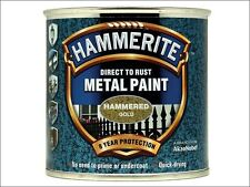 Hammerite - Direct to Rust Hammered Finish Metal Paint Gold 250ml