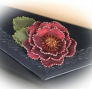 Templates & Instructions for Wired & Beaded Flower - Suitable for beginners!