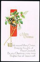 Vintage Merry Christmas Postcard No. W-114