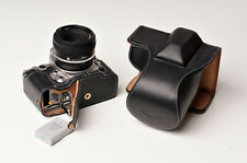 Genuine real Leather Full Camera Case bag for Nikon DF 50mm lens Bottom Open B