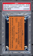 1931 Portsmouth Spartans ticket for game #2 (2nd Year in NFL) -- PSA Graded.