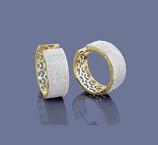 Manufaktur Ohrringe Diamanten Brillanten 585er Gelbgold Wesselton SI, 3,63 Karat
