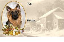 German Shepherd Dog Christmas Labels by Starprint - No3