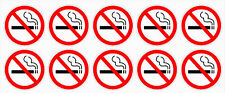 "20 - NO SMOKING stickers | clear 1.5"" dia 