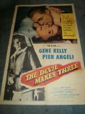 THE DEVIL MAKES THREE(1952)GENE KELLY ORIG 1SHEET POST