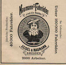 DRESDEN, Werbung 1899, Seidel & Naumann Germania-Räder Fahrrad Näh-Maschinen