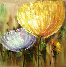LARGE FLOWERS Original painting - 77x77 cm / stretched