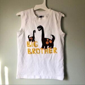 Crazy 8 Big Brother Dinosaur Sleeveless Shirt Tank 5T Boys