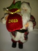 """NEW with Tag. 2019 Ashland Christmas,8"""" Santa Claus,holding Sack with Presents"""
