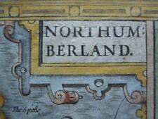 Map, John Speed, 1676, Northumberland, Antique Original, Framed